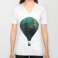 voyage V-neck T-shirts featuring Voyage by M. Vander