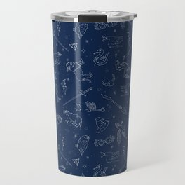 Magic Constellations - magic, magic school, wizard, witch, witchcraft, broom, wand, spell, house, ow Travel Mug