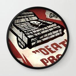 Deathproof redux Wall Clock