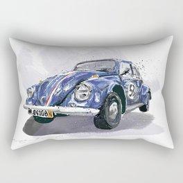 Blue old Car Rectangular Pillow