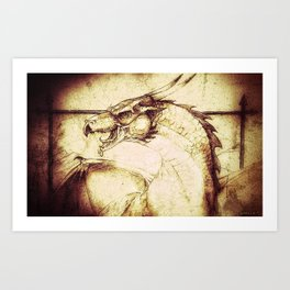 Ancient Dragon Art Print