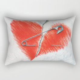 Unbroken by Lars Furtwaengler | Colored Pencil | 2016 Rectangular Pillow