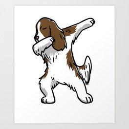 Funny Dabbing English Springer Dog Dab Dance Art Print