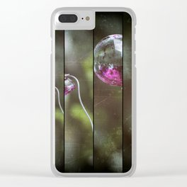 Glass And Good Luck Clear iPhone Case