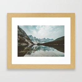 Moraine Lake Mountain Reflection Summer Framed Art Print