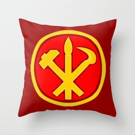 Workers Party of Korea emblem symbol Throw Pillow