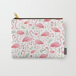 Flamingo Floral Pattern! Carry-All Pouch
