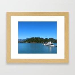 Houseboats On Lake Shasta Framed Art Print