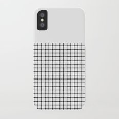 Dotted Grid Black on White Boarder iPhone X Slim Case