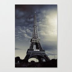 Dark Eiffel Canvas Print