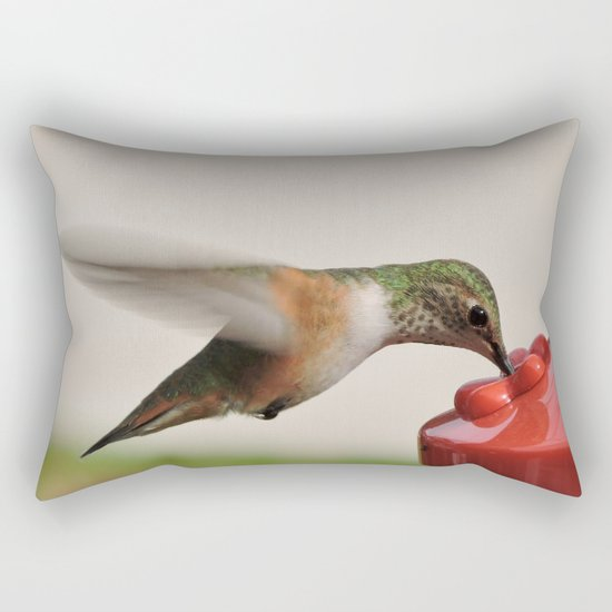 Dropping in for Lunch Rectangular Pillow