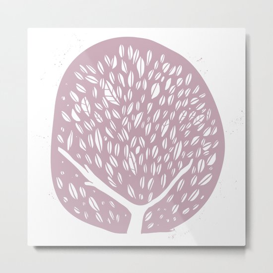 Tree of life - lilac Metal Print