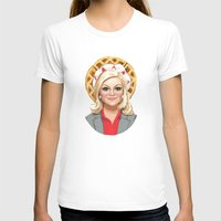 leslie knope T-shirts featuring Leslie Knope, Goddess of Girl Power & Waffles by Kirsten Sevig