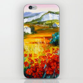 Summer in the mountains iPhone Skin