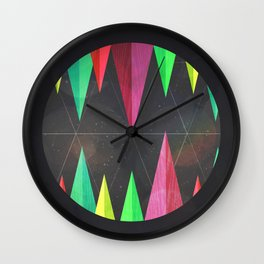 Wood Teeth Wall Clock