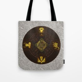 Ilvermorny Knot with House Shields Tote Bag