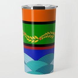 line and wave Travel Mug