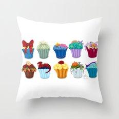The Princess Cupcake Collection  Throw Pillow