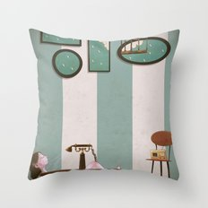 Soaked and Sleepy Throw Pillow
