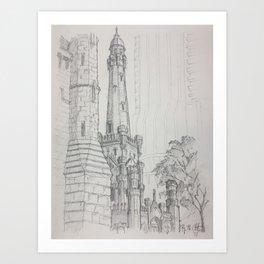 Chicago - Water Tower Art Print