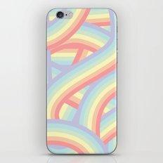Soft Pastel Rainbow Stripes Pattern iPhone & iPod Skin