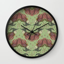 Witchy-Wistera Wall Clock