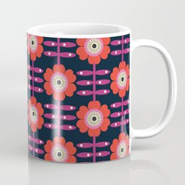 Shick - floral retro vintage flowers 70s style 1970's pop florals Coffee Mug