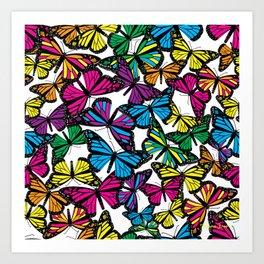 Vibrant Butterflies Art Print