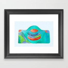 Buddha Earth Mama Framed Art Print