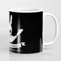 skyrim Mugs featuring The Dark Brotherhood by adho1982