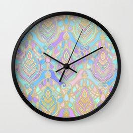 Jade & Blue Enamel Art Deco Pattern Wall Clock