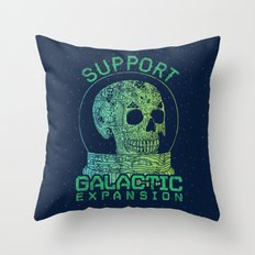 Support Galactic Expansion Throw Pillow