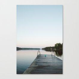 Summer evening in Sweden Canvas Print