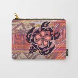 Hawaiian Tribal Turtle Abstract Carry-All Pouch