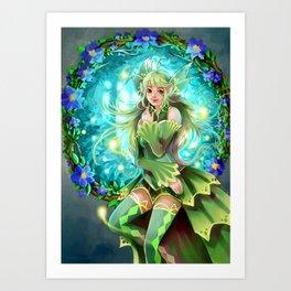 Forest Fea Art Print
