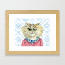 Vernonica Dressed for Luncheon Framed Art Print