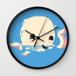 Adorable Octopus Battle (Bold) Wall Clock