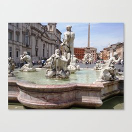 Piazza Navona south side Canvas Print