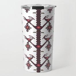 Tribal Ethnic Love Birds Kilim Rug Pattern Travel Mug