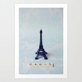 A Word about Paris  Art Print