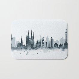 Barcelona Skyline Bath Mat