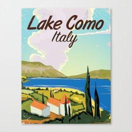 Lake Como Italian vintage travel poster print Canvas Print
