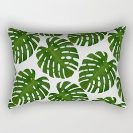 Monstera Leaf II Rectangular Pillow