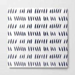 MATISSE CUTOUTS . WHITE + MIDNIGHT BLUE Metal Print