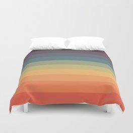 Colorful Retro Striped Rainbow Duvet Cover