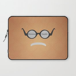 Mahatma Gandhi (Famous mustaches and beards) Laptop Sleeve