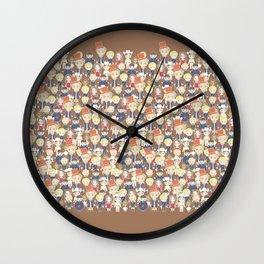 Willy Wonka Pattern Wall Clock