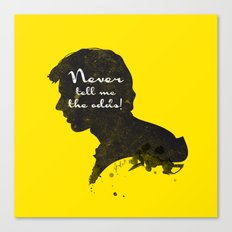 The Odds – Han Solo Silhouette Quote Canvas Print