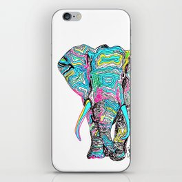 Technicolour Elephant iPhone Skin