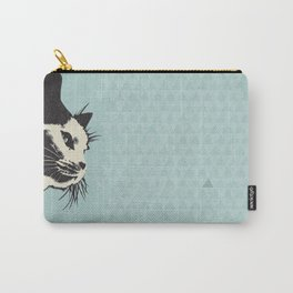 Cat on Blue - Lo Lah Studio Carry-All Pouch